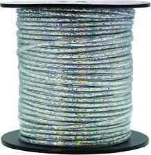Rexlace - 50 Yards of Plastic Lace - Pepperell Silver Holographic Rexlace