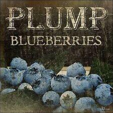 Jennifer Pugh : Plumb Blueberries Imagen Lienzo Fruta Cocina Bayas Decoración