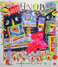 "FRANCESCO MUSANTE 20x23 serigrafia su carta "" L'informatico "" mestieri computer"