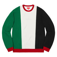 ff3f1073f2f8 Supreme Pique Crewneck White Medium Red Green Hype Mens FW 2017 Streetwear  Black