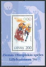 Lettland - Olympische Winterspiele Lillehammer Block 4 postfrisch 1994 Mi. 368
