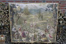 160 cm x 140 cm Gobelin tapiz tejidos escena Vendimia Uva cosecha