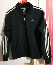 Men's Adidas Essentials Stripes E Retro Tracksuit Zip Top Black/White Size Small
