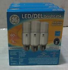 NEW LOT OF 4 Bright Stik GE Lighting 9W Bright Stik Soft White 3Pack LED Bulb