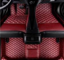 2015 2016 2017 Infiniti QX60 Black with Red Edging Driver Passenger /& Rear Floor GGBAILEY D50874-S2B-BLK/_BR Custom Fit Car Mats for 2014