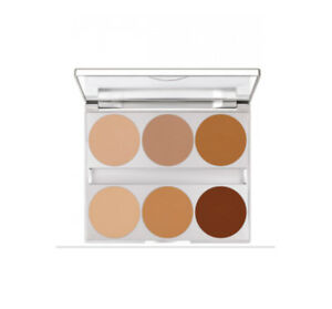 Kryolan Dual Finish Palette/ 6 Colours FAST DELIVERY
