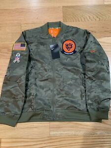 Nike Chicago Bears NFL Football Salute to Service AT7865-222 Jacket Women's XL