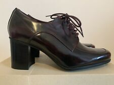 New Clarks Artisan Kensett Darla Ladies Burgundy Patent Leather Brogues UK 7 D