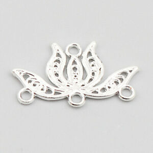 Links Connectors for jewellery making lotus flower pack of 8