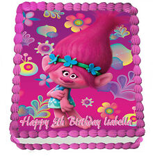 TROLLS  REAL EDIBLE ICING CAKE TOPPER PARTY IMAGE FROSTING SHEET