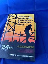 Walker's Building Estimator's Reference Book 24th Edition Hardback 1992
