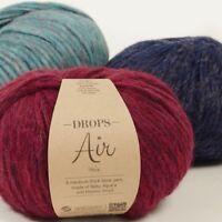 DROPS AIR Baby alpaca + merino SUPER SOFT Light weight blown Knitting yarn