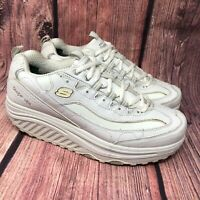 Skechers Shape Ups 11800 Women's White Walking Toning Exercise Shoes Size 9 EW
