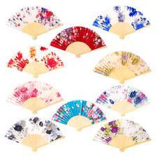 Silk Fan Chinese Japanese Style Folding Fan Wedding Fan Art Gifts Dance HandFeh