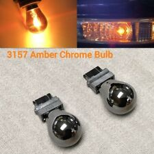 T25 3057 3157 4157 Amber Silver Chrome Bulb Front Signal W1 for Chevrolet Merc A
