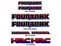 Honda Fourtrax Decals  Rancher Rincon Foreman Rubicon Recon ATV rd/bl