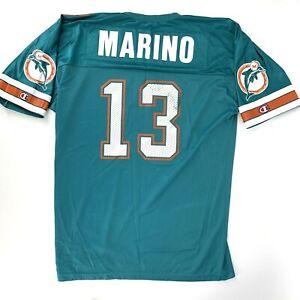 Vintage Dan Marino Miami Dolphins Champion Jersey Size 48 USA Made Football
