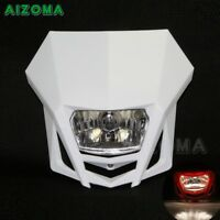 Universal Motocross Dirt Bikes White Headlight Head Lamp For KTM Suzuki Kawasaki
