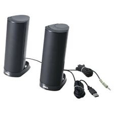 Dell Ax210cr USB Powered External PC Computer Desktop Black Stereo Speakers Set