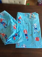 Company Store Kids Twin Size Hockey Sheets Flat Fitted