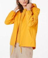 New $258 Eileen Fisher Zip Jacket M Yellow Organic Cotton Hooded