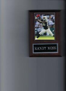 RANDY MOSS PLAQUE OAKLAND RAIDERS FOOTBALL NFL