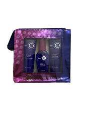 It's a 10 ~ Shampoo, Conditioner & Leave-in ~ Travel Size Bag ~ 2 Oz Each.