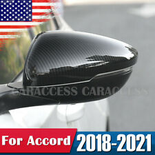 Carbon Fiber Style Rear View Side Mirror Trim Cover For Honda Accord 2018 2021 Fits Honda