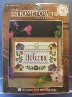 Hometown Collection WELCOME Counted Cross Stitch Kit 14 Ct 5x7 5102 NEW & SEALED