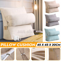 18'' Wedge Back Pillow Rest Sleep Neck Home Sofa Bed Lumbar Office Cushion