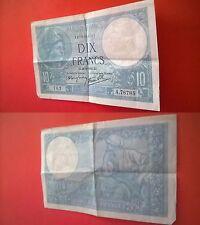 Billet 10 Francs MINERVE 1940