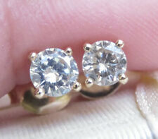 Sparkling Genuine 0.55ct Diamond Stud Earrings 16K Yellow Gold