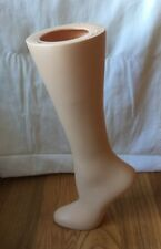 VINTAGE STOCKING DISPLAY MANNEQUIN LEG SHOE FORM ~ RPM INDUSTRIES  AUBURN, NY