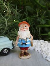 Miniature Dollhouse FAIRY GARDEN ~ Traveling VACATION Gnome with Binoculars NEW