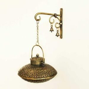 Handcrafted Iron Degchi Handi Pot - A Dhoop Incense Holder with Brass Bell