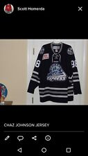 chaz johnson Chicago express game worn hockey jersey ECHL AHL UHL NHL CHL