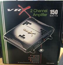 VRX 2 Channel Amplifier Chrome Car Audio Power Stereo Amplifier Amp - 150 Watts