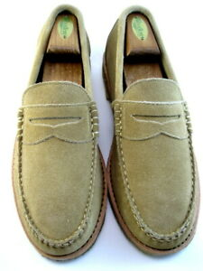 """NEW Allen Edmonds """"CATALINA"""" Casual Soft PENNY Loafers 9 D  Tan Suede (549)"""