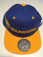 Golden State Warriors Adidas Hat New! NBA Snapback Cap Blue Yellow NWT