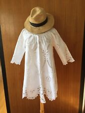 Lim's Vintage Battenberg Lace & Embroidery A-Line Tunic Top, White, Size M