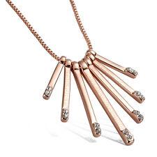"Damenkette Halskette Rosegold mit Anhänger 750er gold vergoldet Schmuck 18"""