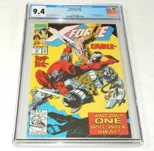 X-Force # 15 CGC 9.4 NM Marvel Comics 1992 Deadpool and Crule Appearance
