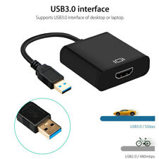 HD 1080P USB 3.0 to HDMI Video Cable Adapter Converter For PC Laptop HDTV LCD TV