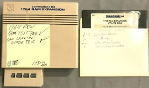 Commodore 1764 Ram Expansion Unit for C64 w/manual,disk,power supply works great