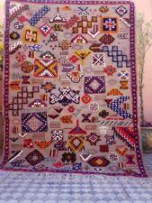 Vintage Berber Rug, Gray Kilim Moroccan rug, 5.2 x 3.9ft