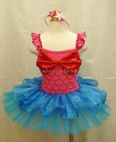 Minnie Mouse Ariel Mermaid Girl Kids Costume Fancy Ballet Tutu Dress Up Age 1-10