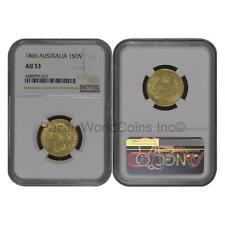Australia 1866 Sovereign Gold NGC AU53 SKU#6690