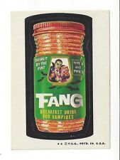 1973 Topps Wacky Packages 4th Series 4 FANG BREAKFAST DRINK for VAMPIRES nm