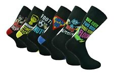 1 Pair Mens Polyester Fun Character Joke Comic Novelty Socks, Size 6-11