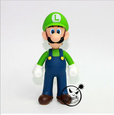 "Nintendo Super Mario Bros 1 Pcs 5"" Luigi Figure Free Shipping"